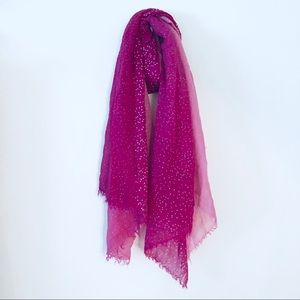 Magenta & Pink Ombre Silver Sparkle Scarf